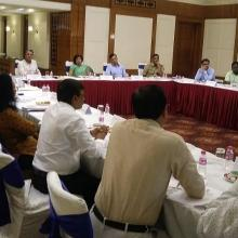 Project Oversight Committee meeting for periodic review of ongoing work and coordination among IWAI, Govt(s) of UP, Bihar, Jharkhand and WB, CWC on Rs 5369 cr JMVP 10 jul 18