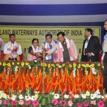Inauguration of RO-RO Ferry Service and Foundation stone for Ship Repair Facility at Pandu, Guwahati by Honable Minister Shri Nitin Gadkari on 27.02.2016