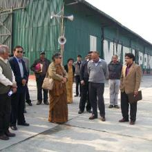 Flagging off ceremony of Jute transpotation on NW-2 Dated21.01.2011
