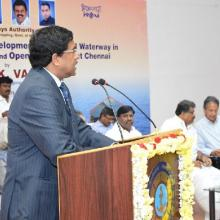 Inauguration of Inland Waterways office at Chennai by Thiru G. K. Vasan, Honble Minister of Shipping, Govt. of Inida on 24.01.2014