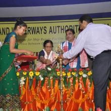 Laying of foundation stone for Ship Repair Facility at Pandu .... Minister of SRT & Highways