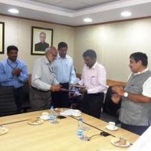 MOU signed with PPT, MPT and DCI on 28.09.2016 for development of N W in presence of Sri N Gadkari, .... Sri P Pandey VC , IWAI